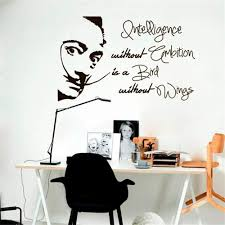 Amazon Com Liedes Vinyl Stickers Wall Home Decor Wall Decor Art Sticker Home Decals Decal Salvador Dali Quote Intelligence Without Ambition Is Bird Without Wings Sticker Room Studio Home Decor Home Kitchen