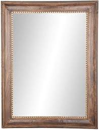 x 36 inch rectangular dark brown framed