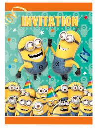 8 Tarjetas De Invitacion Minions Decoracion Y Disfraces