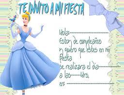 Invitacion Cinderela Disney Tarjetas De Cumpleanos Prin