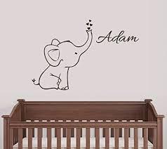 Personalized Elephant Wall Decal Nursery Decor Free Shipping Elephant Things