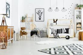 Kids Room With House Bed Dresser Chair And Bookshelf Stock Photo Picture And Royalty Free Image Image 74570416