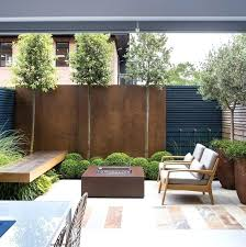 small garden front of house
