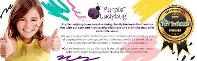 Amazon Com Purple Ladybug Create Your Own Personalized Tumbler With Cute Stickers Bpa Free Kids Tumbler With Lid Straw Gifts For Girls Fun Girl Diy Arts And Crafts Kit For