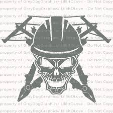 Lineman Skull Linemen Vinyl Decal Sticker By Lilbitolove On Zibbet