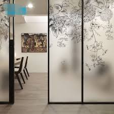 Aliexpress Com Buy Decorative Self Adhesive Static Cling Frosted Stained Window Film Custom Sticker Black Window Film Drawing Room Decor Window Film Designs