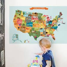 Usa Map Wall Sticker