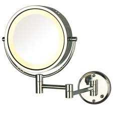 hl75cd lighted wall mount mirror 1x 8x