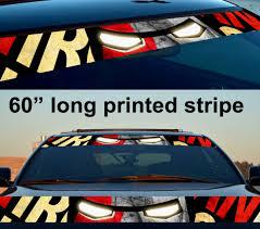 Buy 60 Tony Stark Industries V2 Mask Suit Helmet Dark Sun Strip Printed Windshield Graphics Car Vinyl Sticker Decal