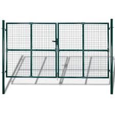 Shop Vidaxl Chain Link Fence With Posts Spike Galvanised Steel 4 1ftx49 2ft Overstock 31427910
