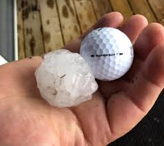 crossfield pummeled by another hail
