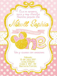 Minnie Mouse Tarjeta De Cumpleanos Invitation Minniemouse