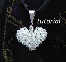 crystal puffy heart beaded