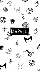 marvel doodle wallpapers top free