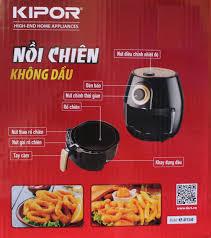 Lò Nướng Chân Không Khí Nồi Chiên Không Dầu Kipor KP-AF5340 (4 lít) - Chính  Hãng - Nồi chiên