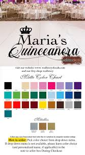 Sweet 15 Quinceanera Birthday Logo Dance Floor Vinyl Decal Personalized Names Vinyl Lettering Custom Quince Anos Decor Party