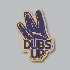Represent Your University Of Washington Huskies With Our Dubs Up Sticker The P University Of Washington Huskies Washington Huskies Football Washington Huskies