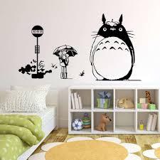 Amazon Com W M Totoro Wall Decor Decal Baby Kid S Room Sticker Nursery Wall Art Decor Mural 1 Home Kitchen