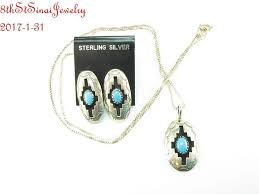 Navajo Felix Perry Sterling Silver 925 Turquoise Earrings & Necklace SET |  Turquoise earrings, Necklace set, Earring necklace