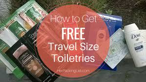 how to get free travel size toiletries