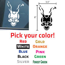 2 X Frank The Skull From Donnie Darko Decals Stickers 5 5 X 8 Free Shipping Donnie Darko Decals Stickers Stickers