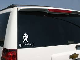 Gone Hiking Car Sticker Gone Hiking Decal Familystickers Com