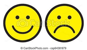 happy and sad face icons smiley face