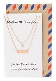 pendants mother daughter necklace set