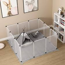 Pet Playpen Puppy Crate Kennel Rabbit Fence Panels Wire Exercise Pen Cage Yard Large Portable Foldable For Small Animals Rat Lazada Ph