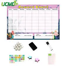 Magnetic Two Kids Responsibility Reward Chart Kids Chore Chart Behavior Calendar Schedule Wall Sticker For Kids Room Decoration Wall Stickers Aliexpress