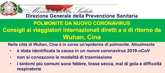 Salute. Nuovo CoronaVirus dalla Cina. Informazioni. - USERTV ...
