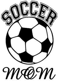 Amazon Com Ceciliapater Soccer Mom With Soccer Ball Car Window Decal Home Kitchen