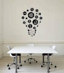Vinyl Wall Decal Lab Science Class Lightbulb School Decor Interior Sti Wallstickers4you