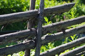 Handmade Wooden Fence In Dalarna Stock Image Image Of Screws Tradition 120766617
