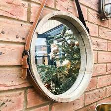 large wooden porthole mirror deep 3d