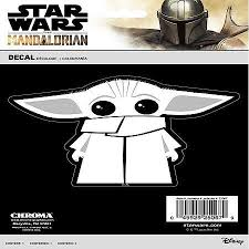 Chroma Graphics Star Wars Mandalorian The Child Baby Yoda In White Vinyl Decal 25067 Advance Auto Parts