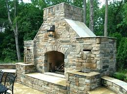 outdoor stone fireplaces cost