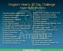 day challenge day kingdom hearts amino