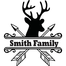 Personalized Name Vinyl Decal Sticker Custom Initial Wall Art Personalization Decor Deer Head Hunting Welcome Sign 12 Inches X 12 Inches Walmart Com Walmart Com