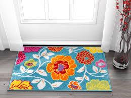 Well Woven Small Rug Mat Doormat Modern Kids Room Kitchen Rug Daisy Flowers Blue 1 8 X 2 7 Accent Area Rug Entry Way Bright Carpet Bathroom Soft Durable Walmart Com Walmart Com