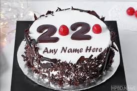 new year 2020 cake with name free
