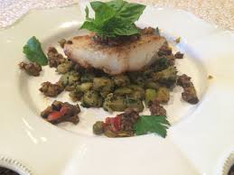 COD WITH ZUCCHINI AND OLIVE TAPENADE ...