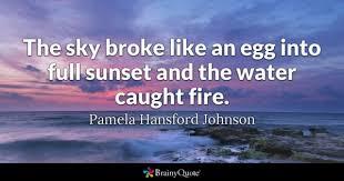 pamela hansford johnson the sky broke like an egg into