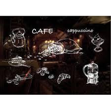 Panda Superstore Coffee Tea Cafe Shop Wall Window Decor Sticker Window Decal White