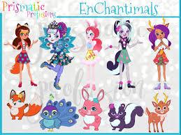 Enchantimals Image Clipart Party Design Diy Modern Printable Digital File Png Stickers Instant Download Vector Graphics By Basteln Diy Design