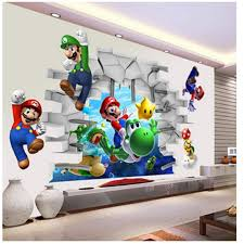 Super Mario Bros Removable Wall Stickers For Kids Rooms Bedroom Living Room Nursery Home Decor Cartoon Decals Vinyl Mural Art Wallcorners Art Canvas