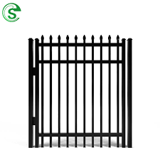 China Powder Coated High Security Galvanized Wrought Iron Fence Gate Steel Single Gate Iron Swing Double Gate Photos Pictures Made In China Com