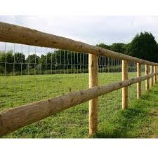 Post And Rail Round Stake And Half Round Rails Hartwells Fencing