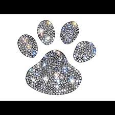 Other Small Rhinestone Crystal Paw Print Decal Poshmark
