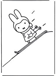 Nijntje Op Ski S Nijntje Kleurplaat